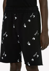 Logo Print Cotton Bermuda Shorts