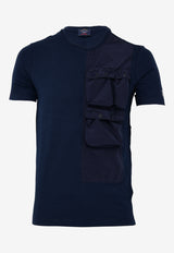 Crew Neck T-shirt with Large Patch Pocket
