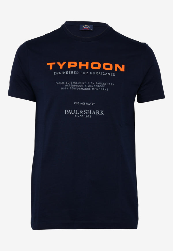Typhoon Logo Print Crew Neck T-shirt