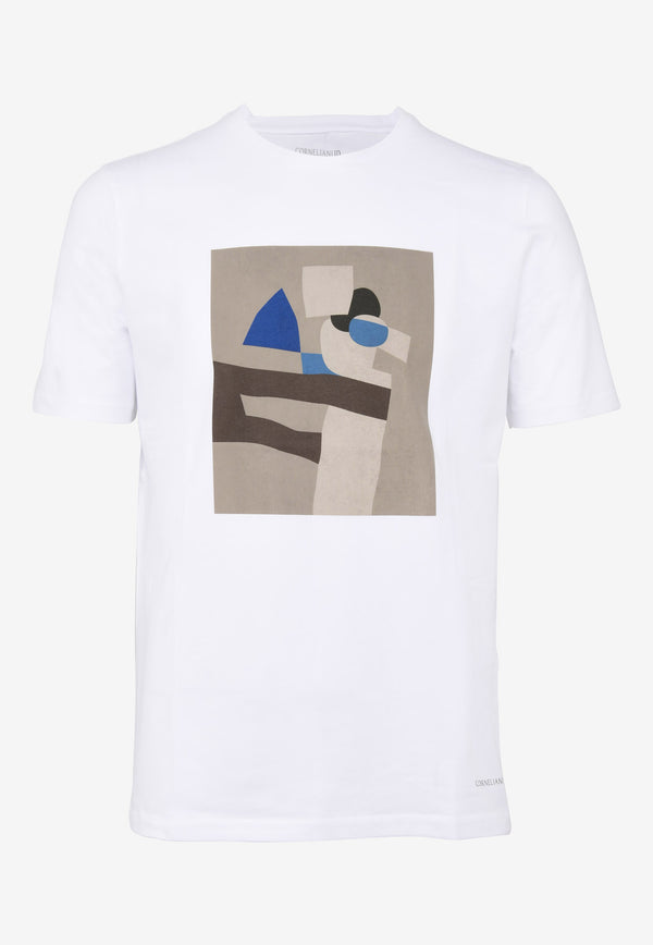Graphic Print Crew Neck T-shirt