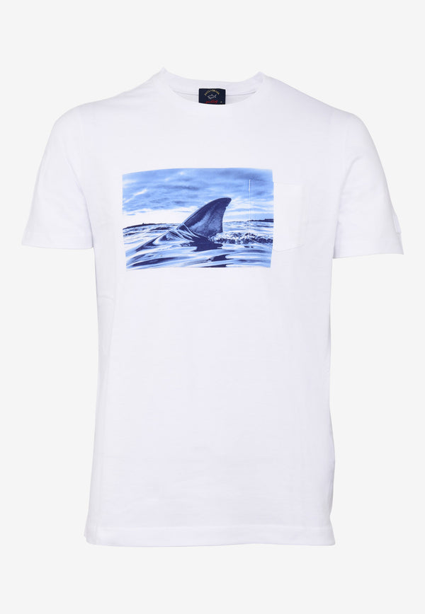 Shark Print Crew Neck T-shirt