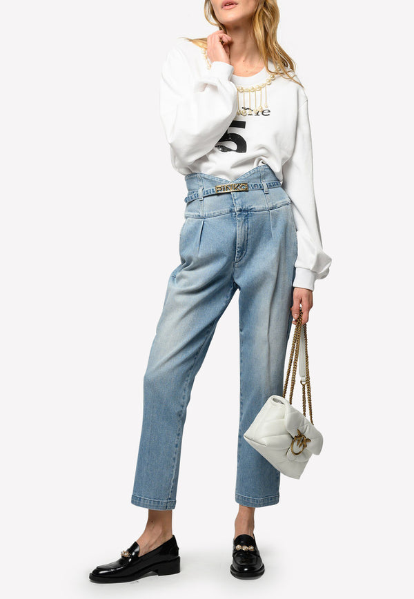 Ariel 9 Bustier Style High-Waist Cropped Jeans