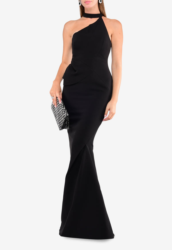 Arden One-Shoulder Mermaid-Cut Gown