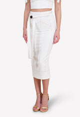 Frankie Midi Skirt with Waist Tie-Up