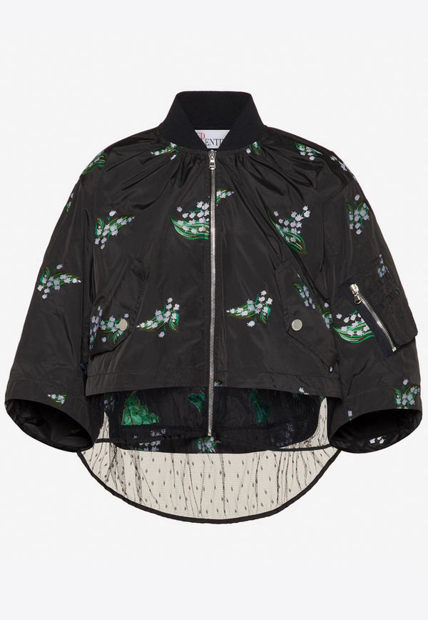 May Lily Cropped Taffeta Jacket