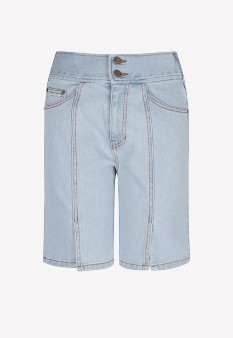 High-Waist Denim Shorts