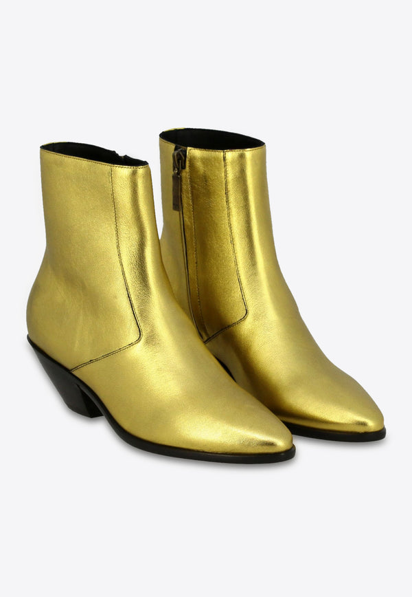 West 45 Ankle Boots in Metallic Calfskin