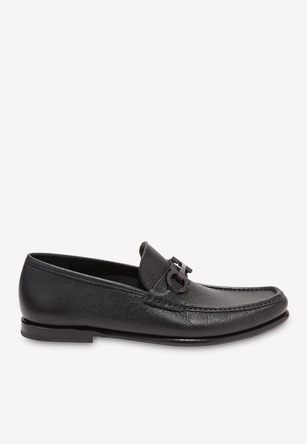 Crown Gancini Loafers in Stamped Calfskin