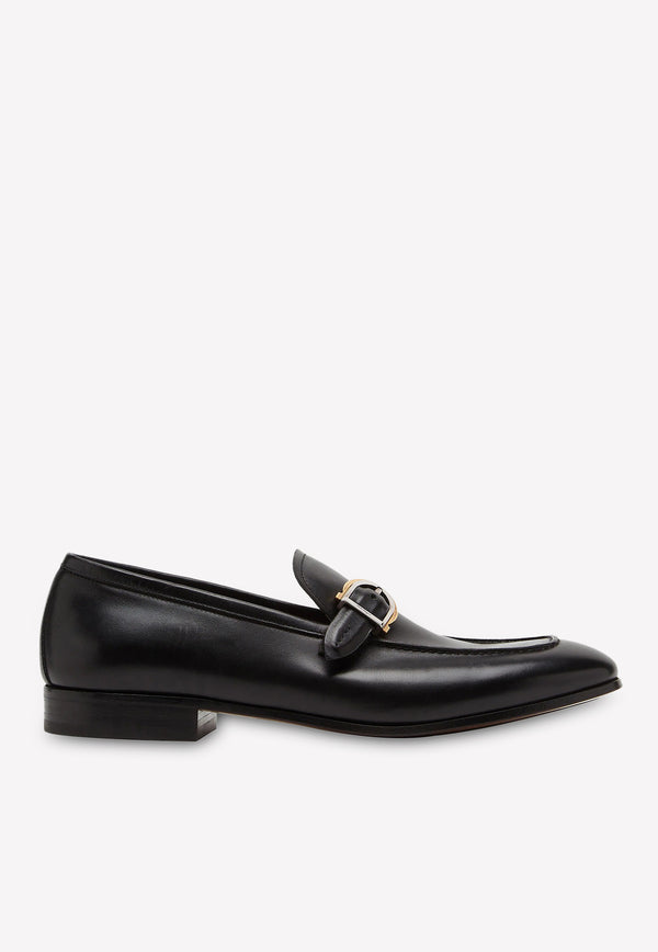 Portland Gancini Buckle Loafers in Calfskin