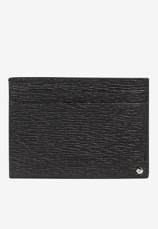Calfskin Leather Cardholder with Gancini Logo