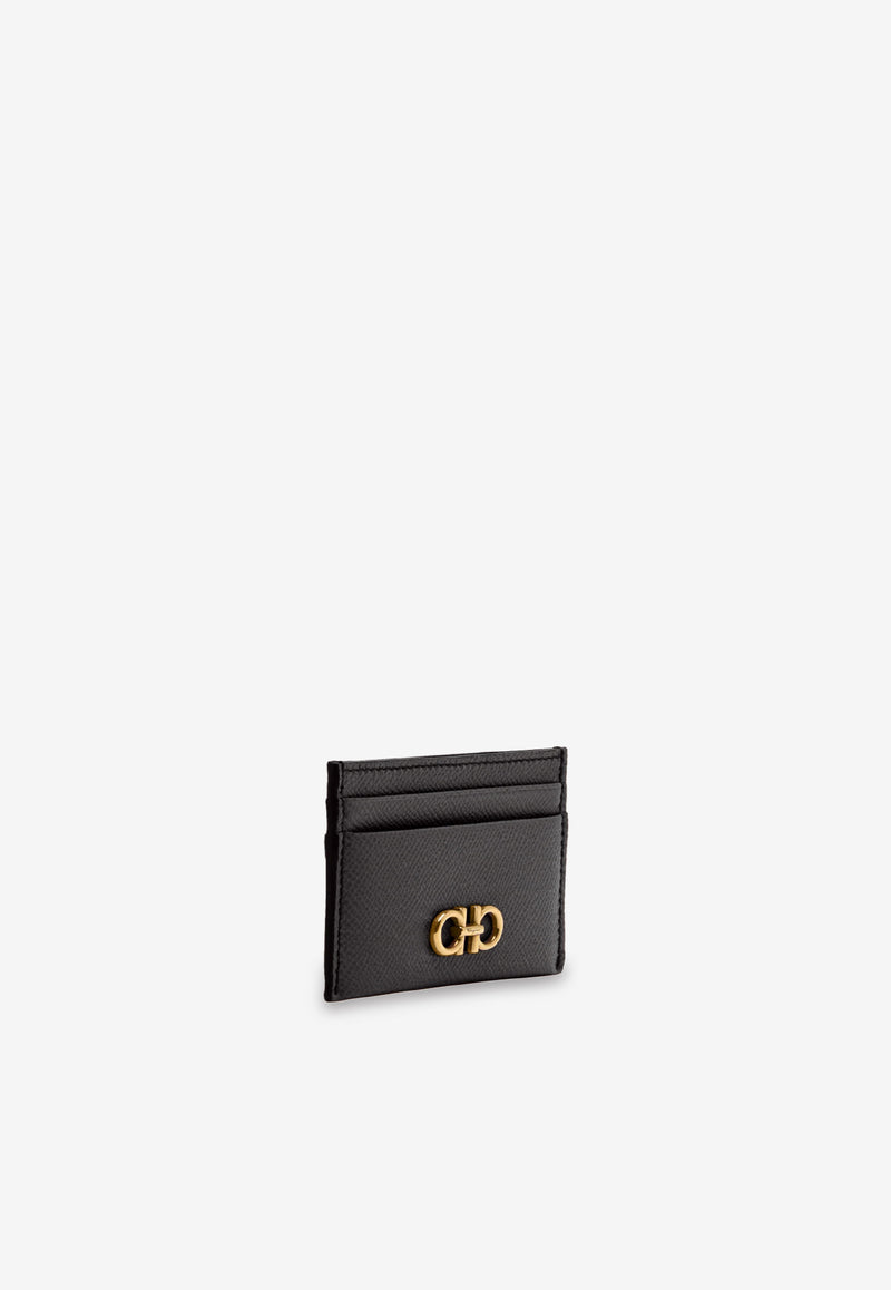 Gancini Credit Card Holder in Calfskin