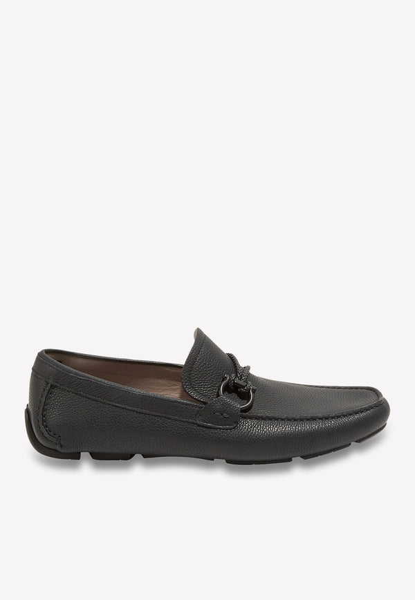 Gancini Driving Loafers in Calfskin