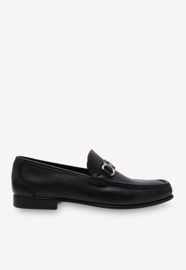 Gancini Leather Loafers