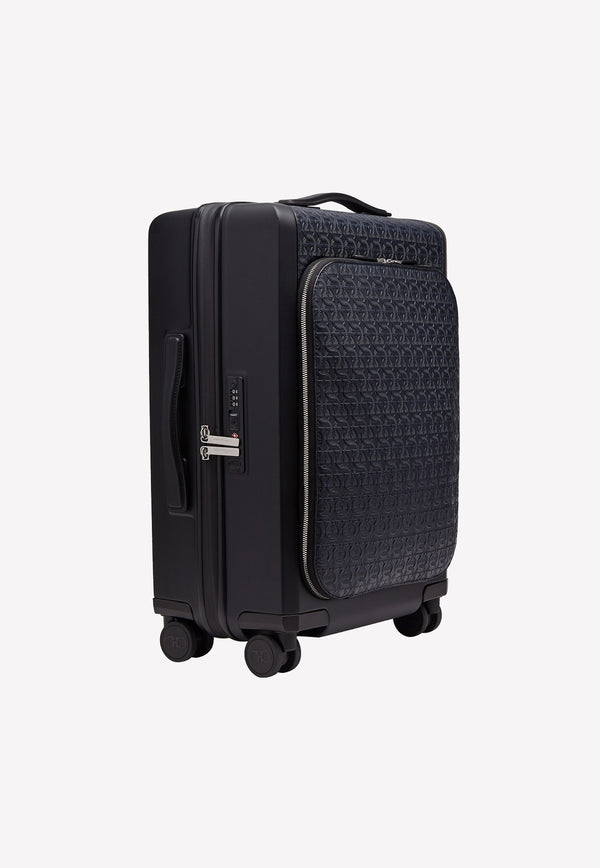 Gancini 4-Wheeled Carry-On Luggage in Calfskin