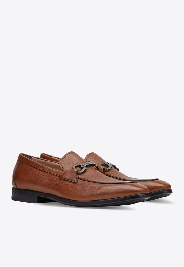 Ree Gancini Loafers in Textured Calfskin