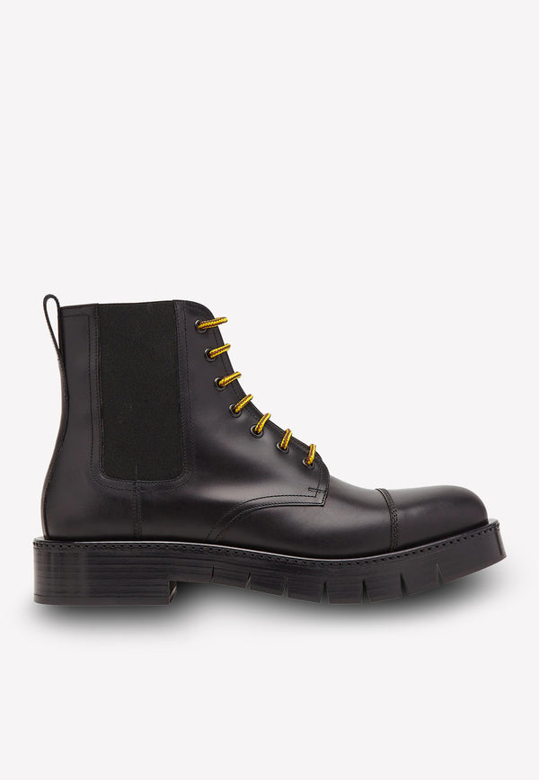 Rosco Lug Boots in Smoot Calfskin