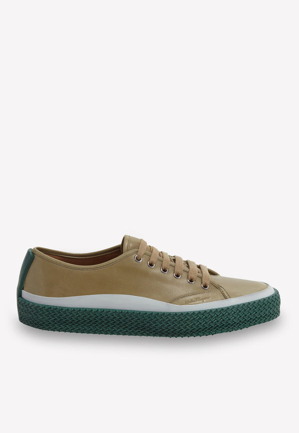 Storm Calfskin Sneakers with Texturized Sole