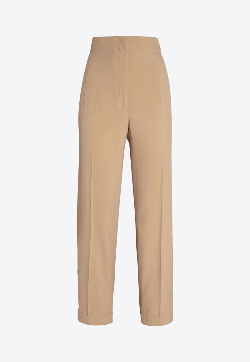 High-Rise Pants in Silk