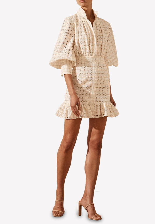Penelope Broderie Anglaise Mini Dress