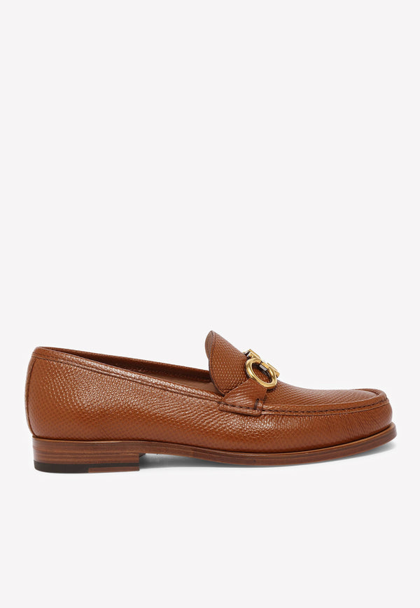 Rolo Gancini Loafers in Textured Calfskin