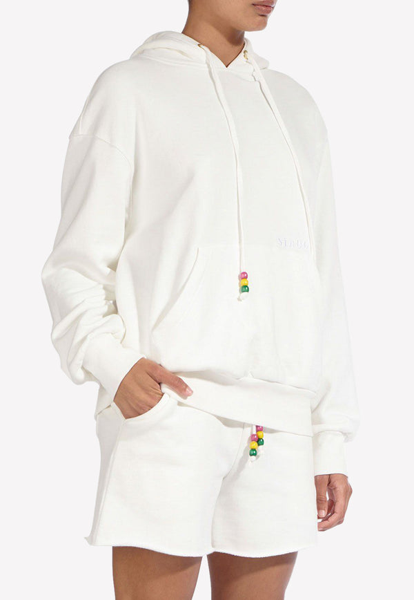 Embroidered Hooded Cotton Sweatshirt