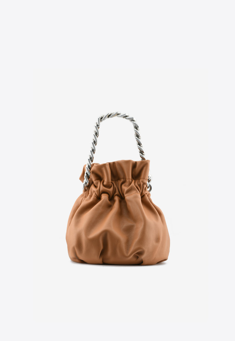 Grace Chain Top Handle Leather Bag