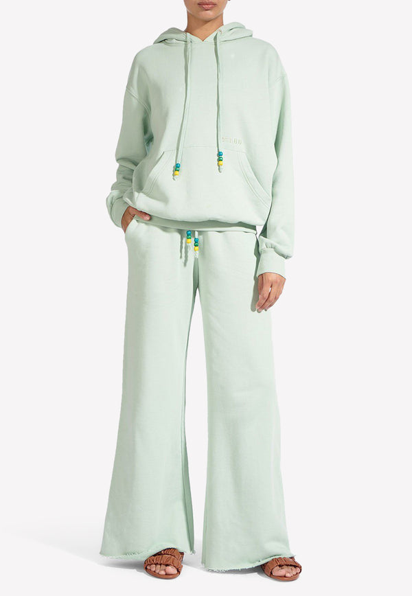Wide-Leg Cotton Sweatpants