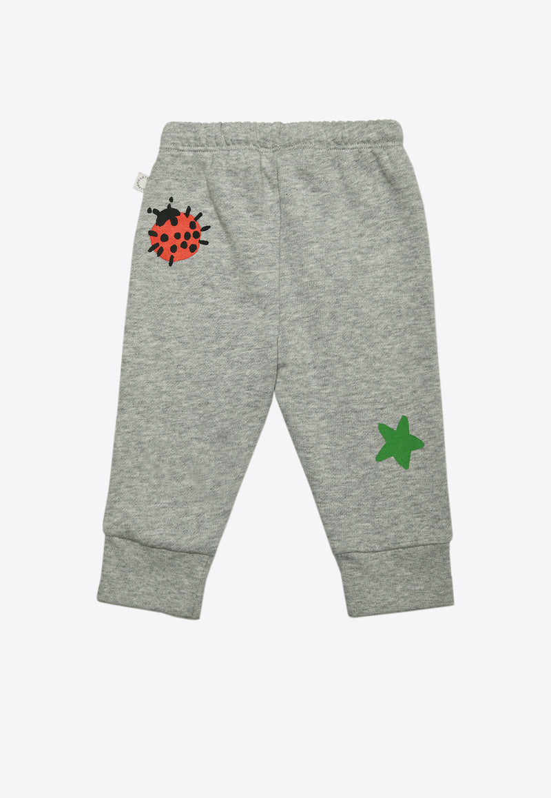 Baby Crayon Weather Print Cotton Joggers