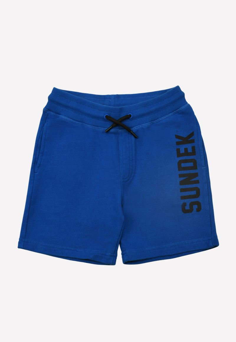 Boys Cotton Shorts with Sundek Print