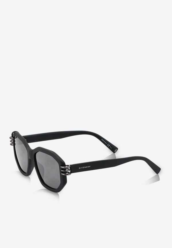 Givenchy Gradient Lens Geometric Sunglasses 716736328492BLACK 2
