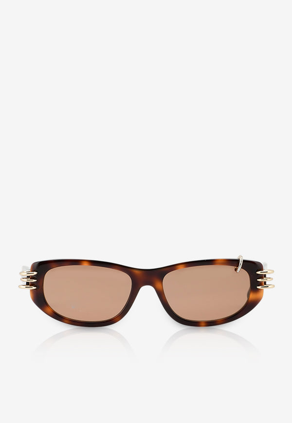 Givenchy Micro Crystals Rectangle Sunglasses 716736328584BROWN MULTI 1