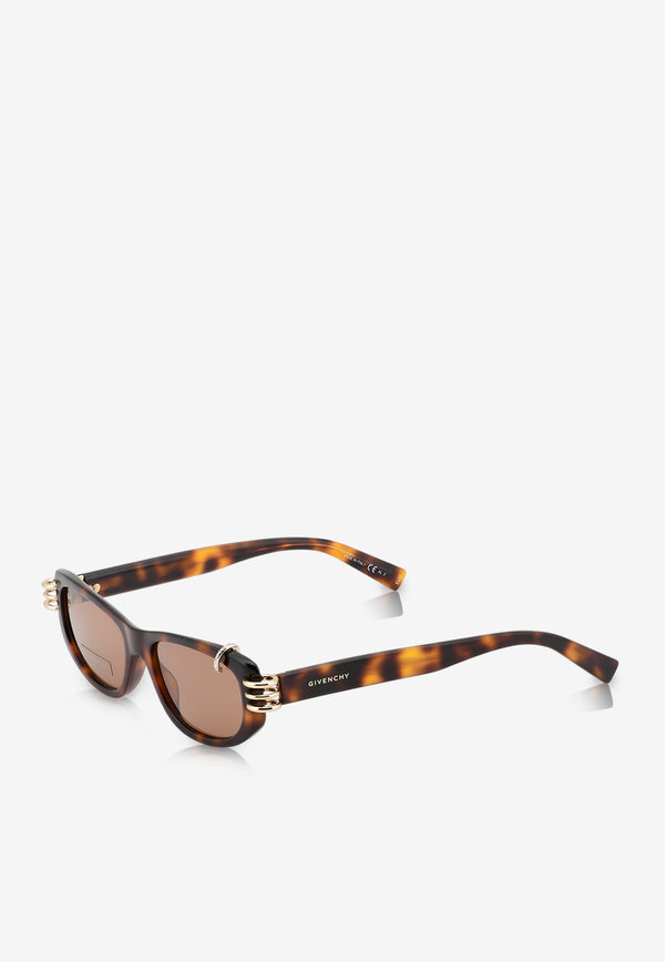 Givenchy Micro Crystals Rectangle Sunglasses 716736328584BROWN MULTI 2
