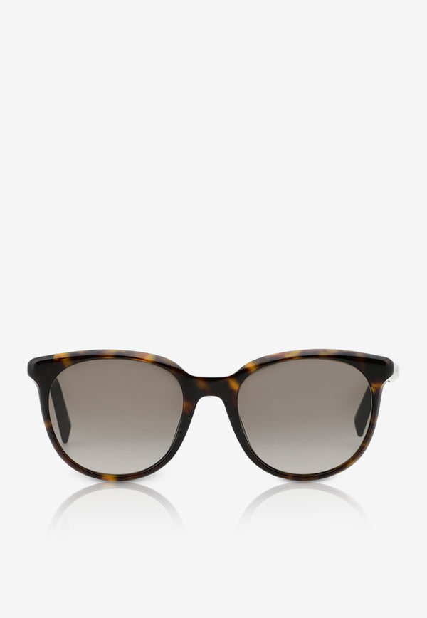 Givenchy Round Frame Sunglasses 716736390857BROWN MULTI 1
