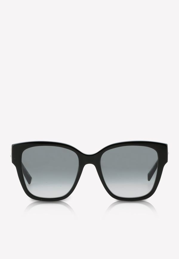 Givenchy Logo Temple Square Sunglasses 716736390437BLACK 1