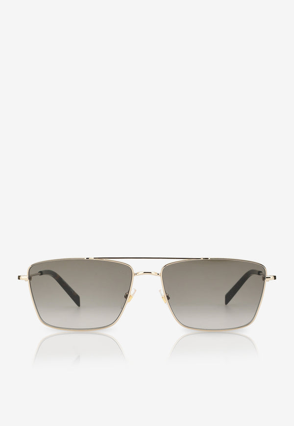 Givenchy Double Bridge Navigator Sunglasses 716736390727GREY 1