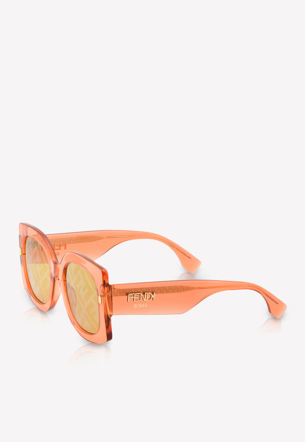 Fendi Transparent Butterfly Frame Sunglasses 716736346281ORANGE 2
