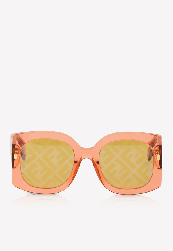 Fendi Transparent Butterfly Frame Sunglasses 716736346281ORANGE 1