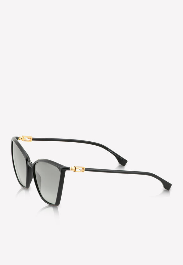 Fendi Cat-Eye Frame Sunglasses 716736345031BLACK 1