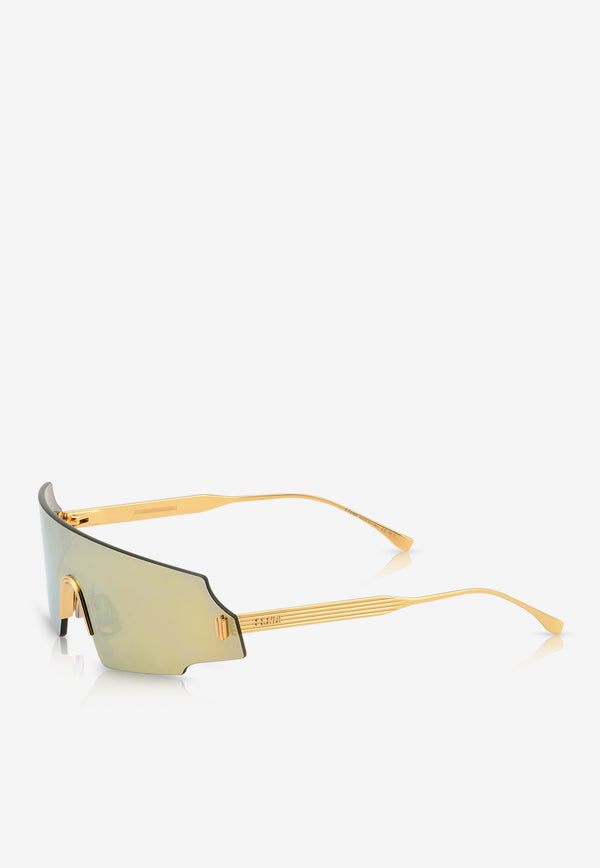 Fendi Forceful Panorama Sunglasses 716736345307GOLD 2