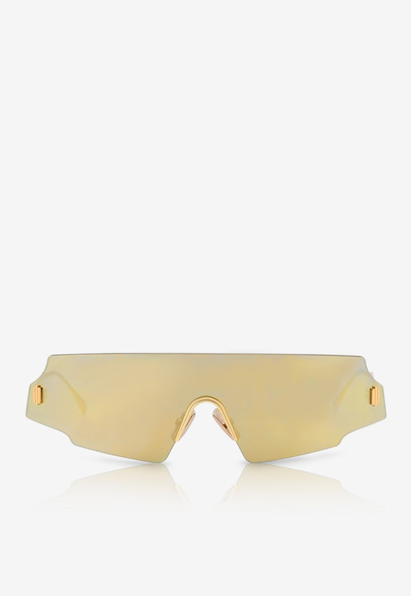 Fendi Forceful Panorama Sunglasses 716736345307GOLD 1