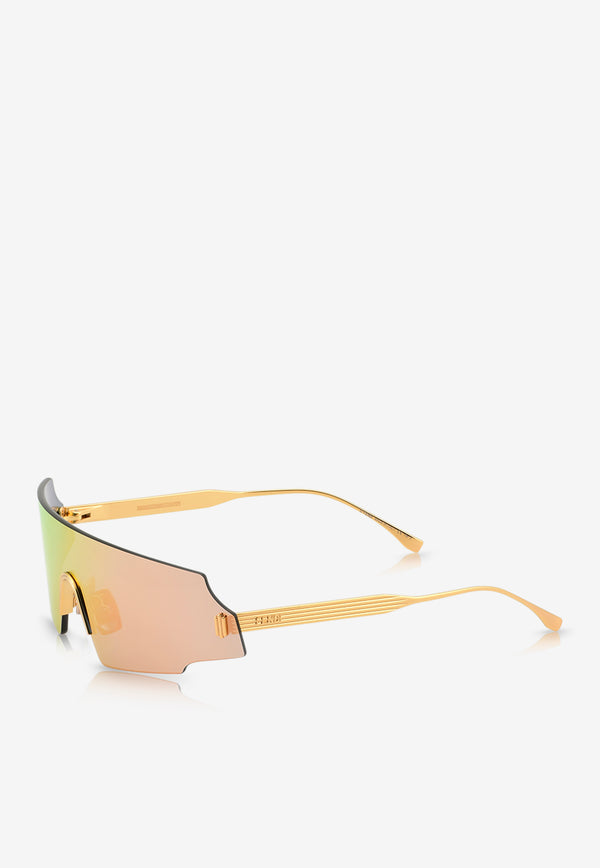 Fendi Forceful Panorama Sunglasses 716736345291ROSE GOLD 2