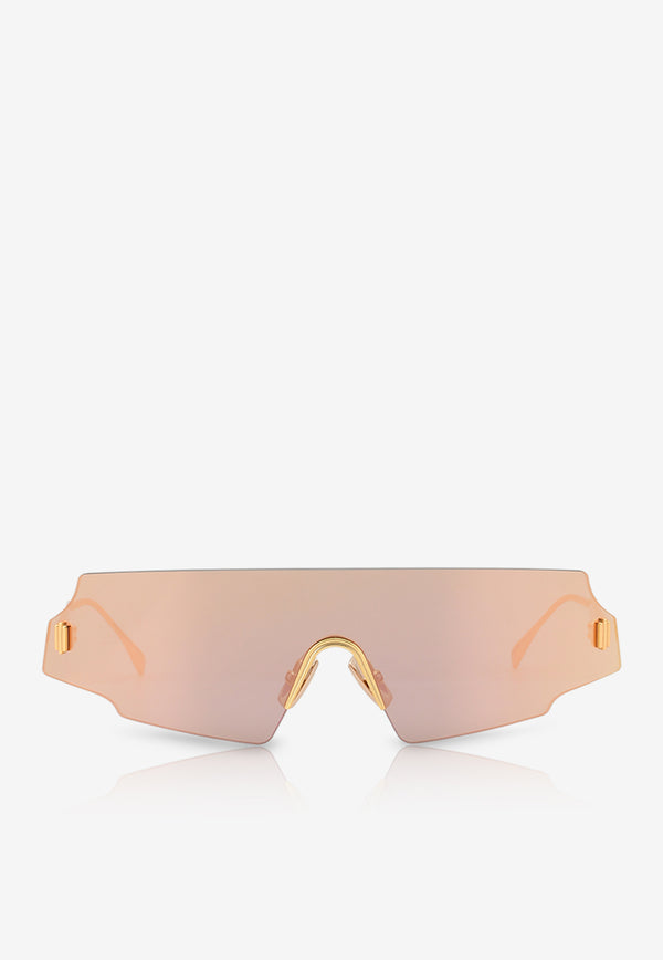 Fendi Forceful Panorama Sunglasses 716736345291ROSE GOLD 1