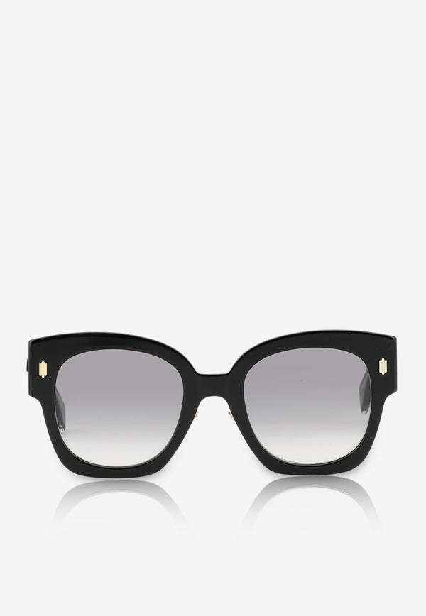 Fendi Square Frame Sunglasses 716736390147BLACK 1