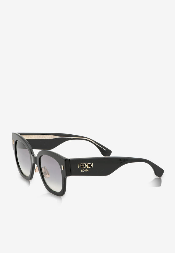 Fendi Square Frame Sunglasses 716736390147BLACK 2
