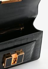 Tom Ford Small 001 Top Handle Bag in Croc-Embossed Leather L1310E-LCL150 U9000
