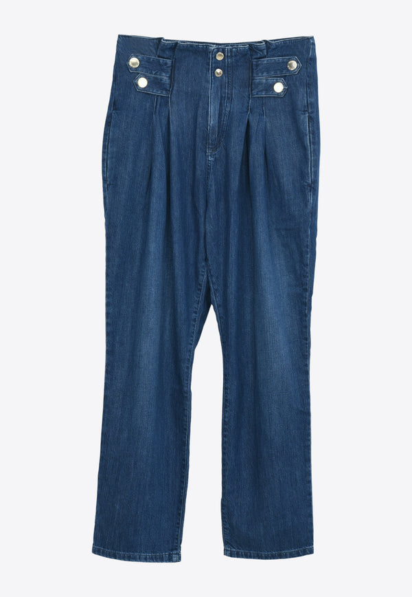 Pinko New Cara High-Rise Carrot Jeans 1J10LZY6VQNAVY