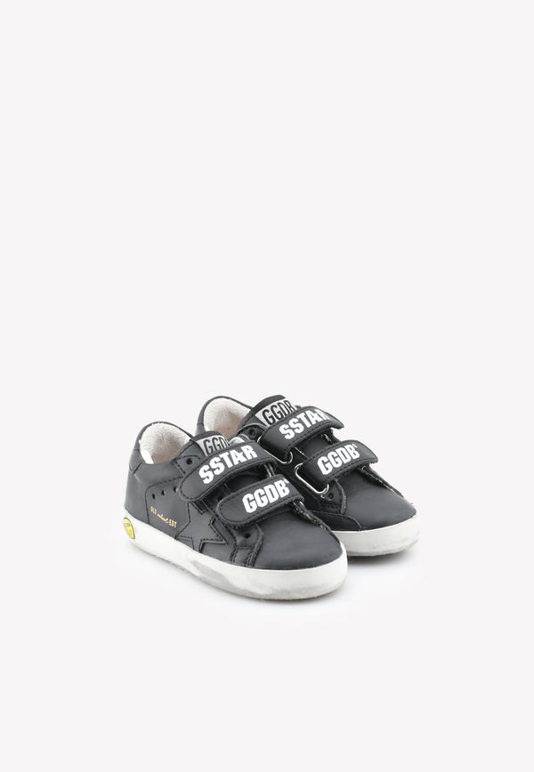 Golden Goose DB Boys Old School Leather Sneakers Black GJF00111F0BLACK