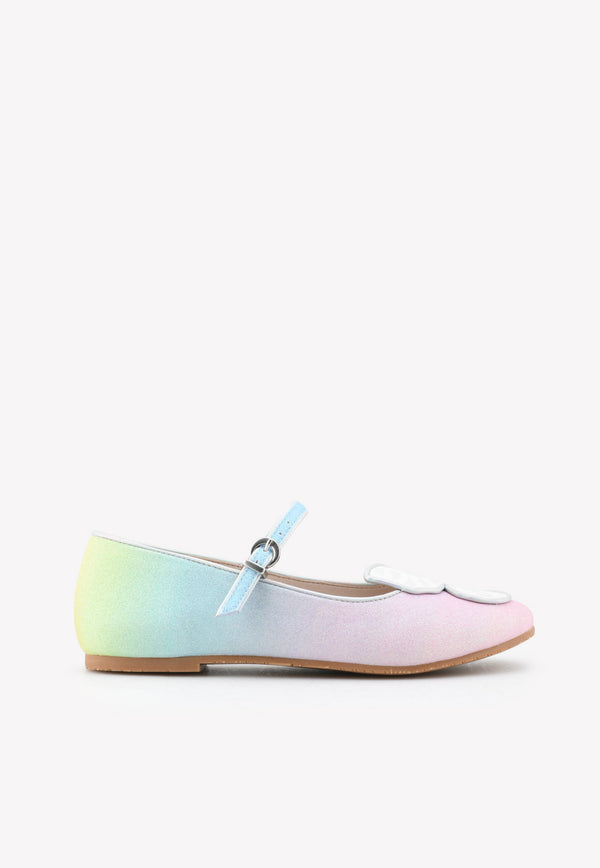 Sophia Webster Mini Baby Butterly Mini Flats Multicolor MSS21022---MULTICOLOUR
