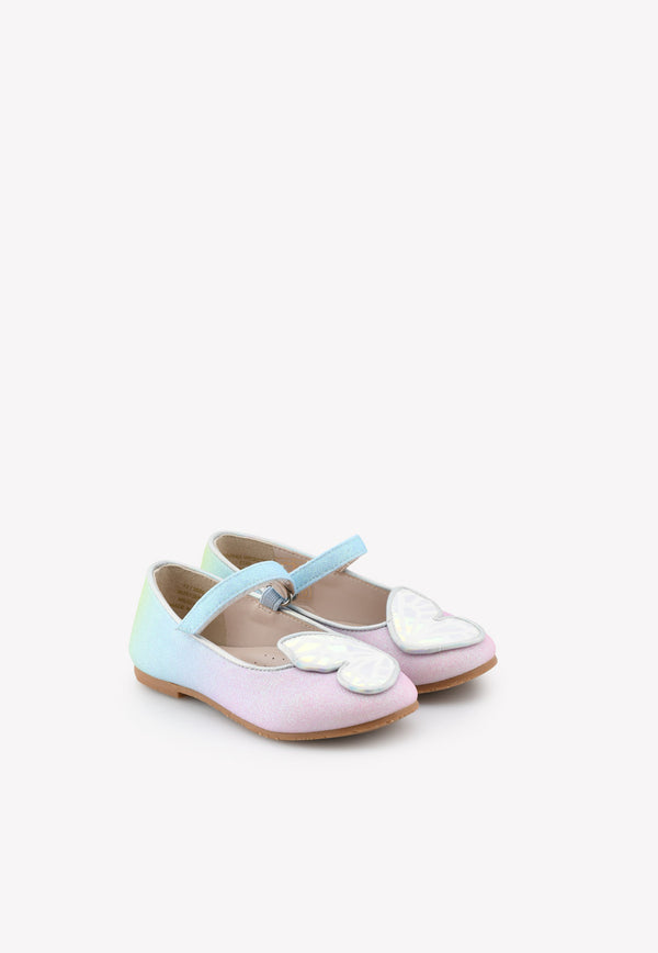 Sophia Webster Mini Baby Butterfly Detail Mary Jane Flats Multicolor MSS21024---MULTICOLOUR
