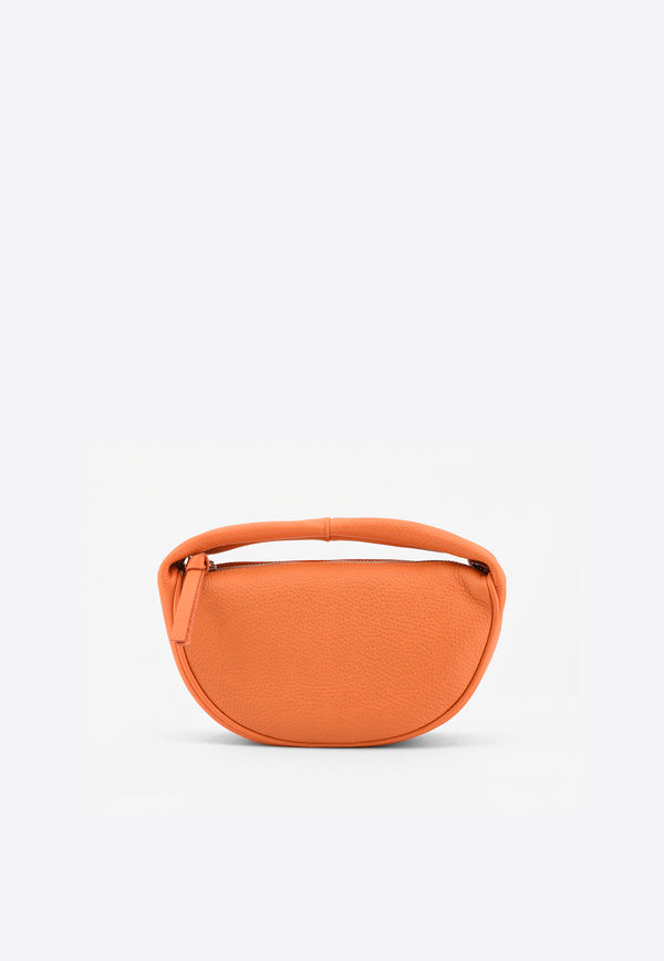 By Far Orange Baby Cush Shoulder Bag in Grained Leather 21SSBCUSSPAPFLTMEDORANGE
